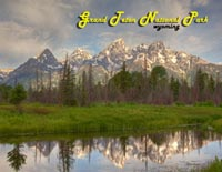 Tetons reflections Postcard