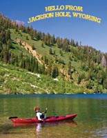 Kayak in the Tetons Postcard
